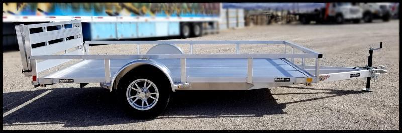 2019 H & H Trailers 82 x 12 Aluminum Single Axle Utility Trailer