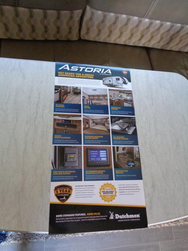 2019 Dutchmen Manufacturing Astoria 2513RLF