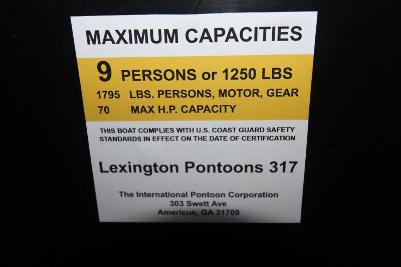 2019 International Pontoon Corporation Lexington 317F