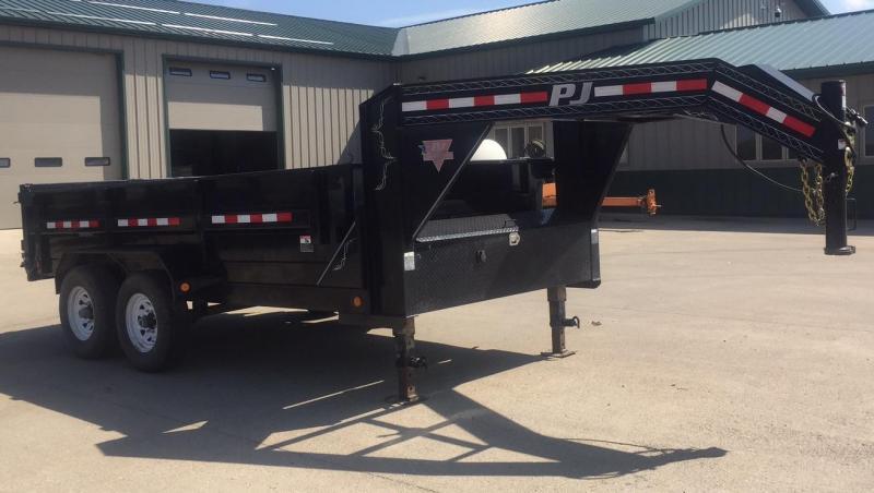 2015 PJ Trailers 14' Gooseneck Dump Trailer