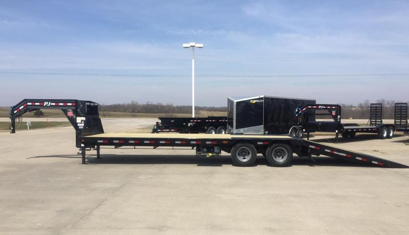 2019 PJ Trailers 32 Power Dovetail Flatbed Trailer