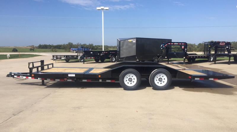 2019 PJ Trailers Super-Wide Gravity-Tilt Equipment Trailer
