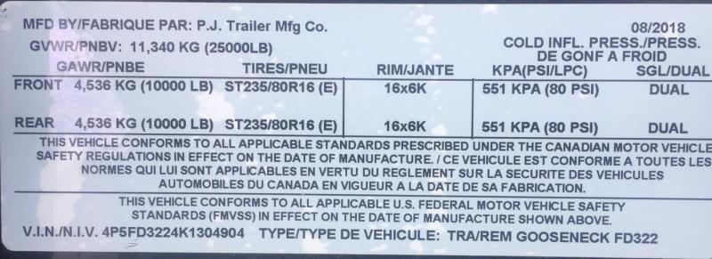 2019 PJ Trailers FD32 Tandem Dual Flatbed Trailer