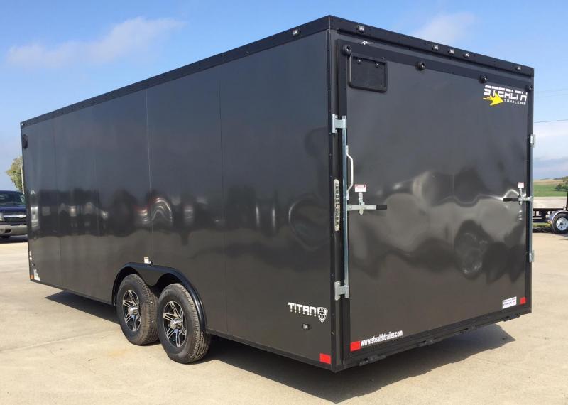 2019 Stealth Trailers Titan 8.5x 20x78 V-Nose Enclosed Cargo Trailer