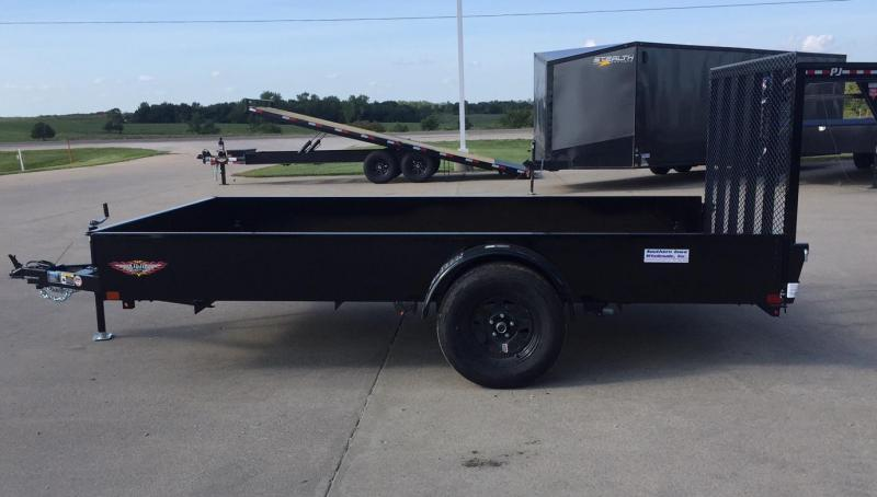 """2020 H and H Trailer 82"""" x 12' Solid Side Utility Trailer"""