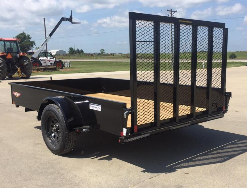 """2020 H and H Trailer 77"""" x 10' Solid Side Utility Trailer"""