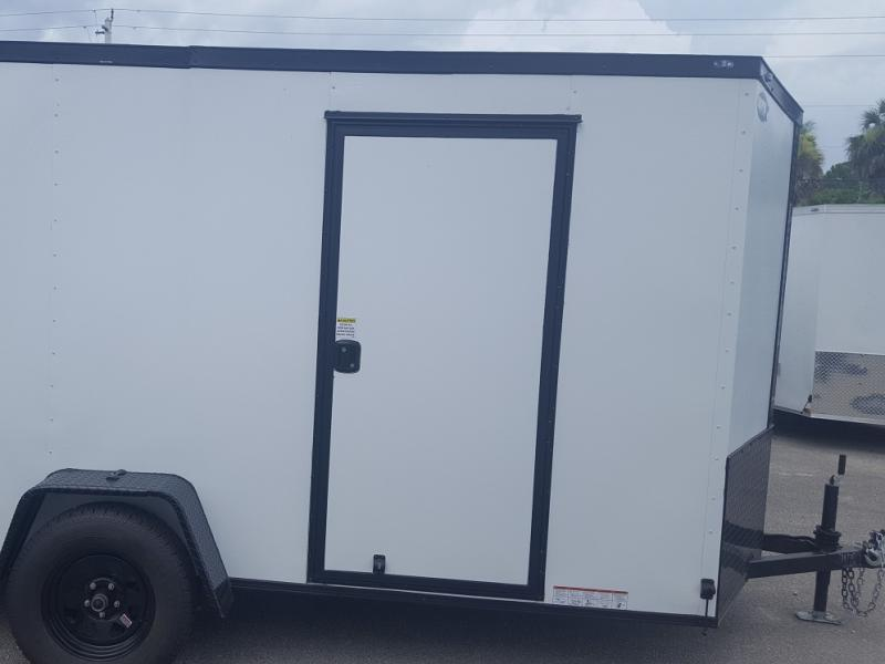 New White 6 ft. by 12 ft. Trailer with Single Axle &Additional Height!,