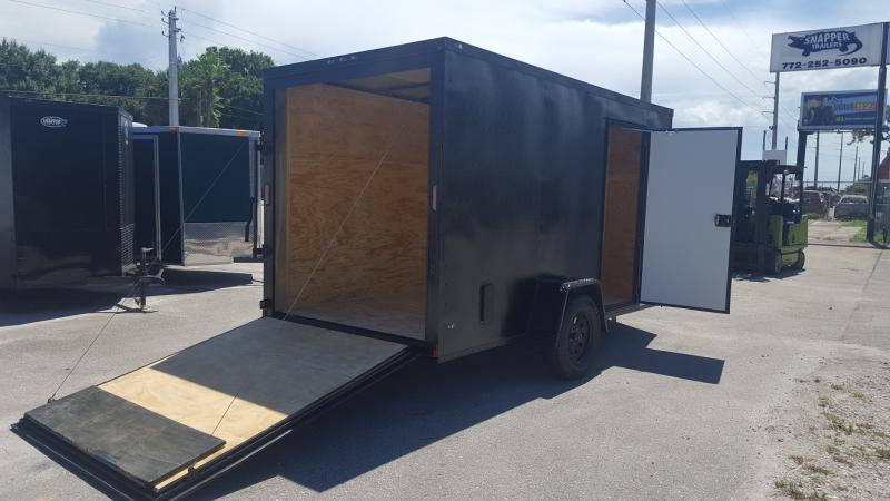 Cargo Trailer 6ft.x12 with v Nose and Extra Height for sale,