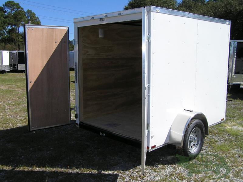 6 foot x 8 White EXT. Trailer with Additional Height and No Side, in Ashburn, VA