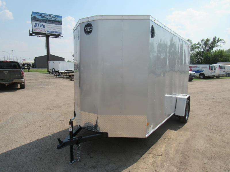 2019 Wells Cargo FastTrac 6 X 12 V-Nose Enclosed Cargo Trailer w/ 6'6