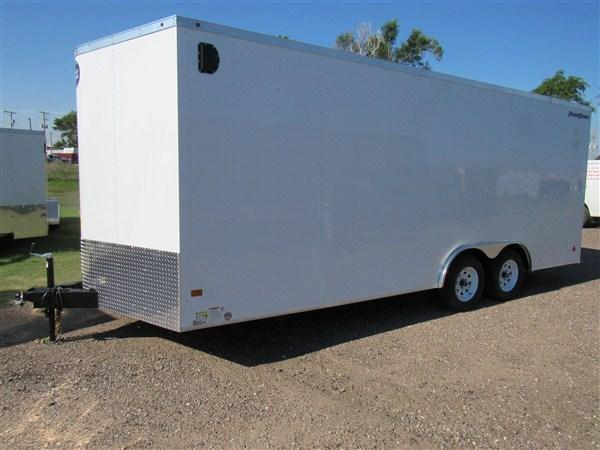 2018 Wells Cargo Road Force 8.5 X 20 V-Nose Enclosed Cargo Trailer w/ 7' Ceiling