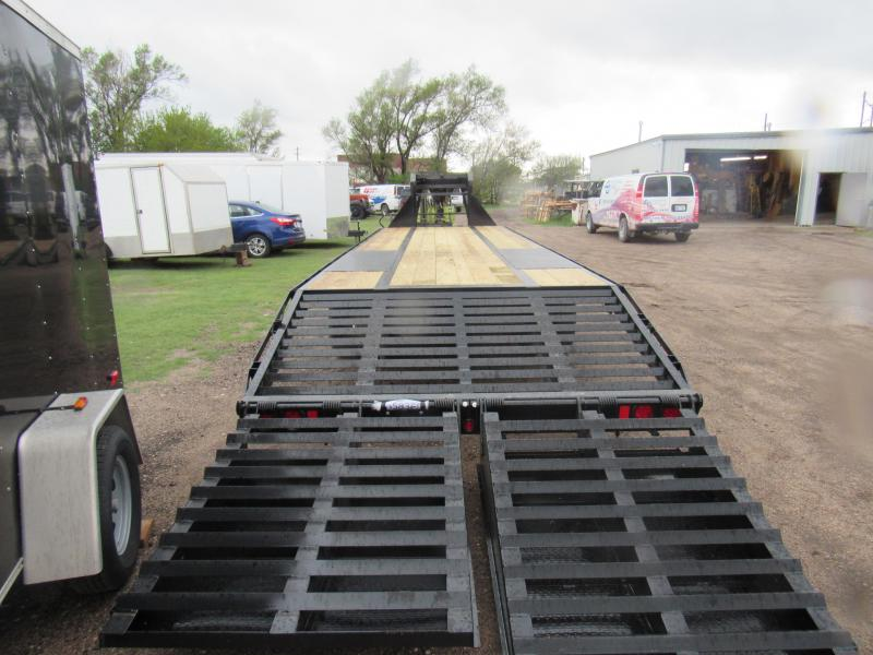 2019 Top Hat Trailers Gooseneck 24K 32'(27'+5') WithJUMBO Ramps Flatbed Trailer