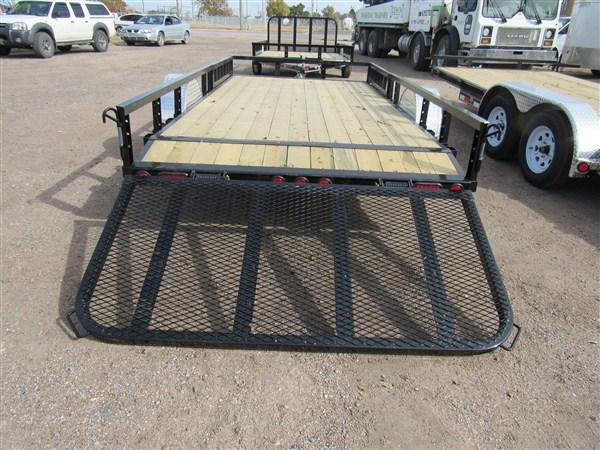 "2019 PJ Trailers 77"" X 14' Dove Tail ATV/Utility Trailer"