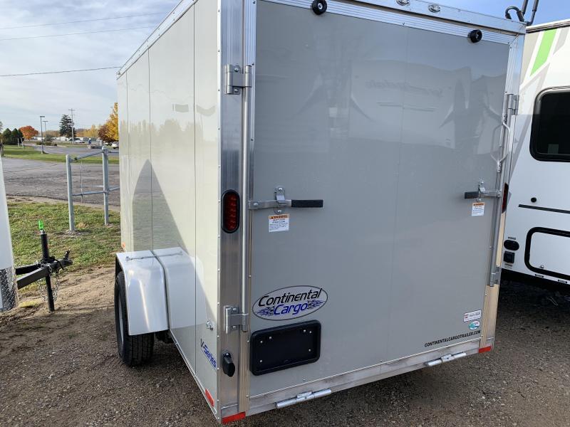 2019 Continental Cargo 6x12 aluminum Enclosed Cargo Trailer
