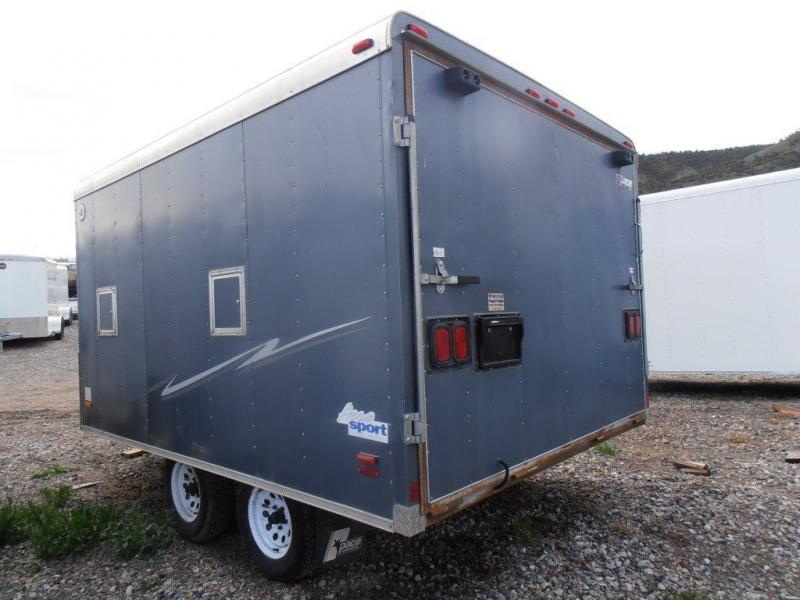 2000 Pace American 14 V-NOSE ON/OFF Snowmobile Trailer