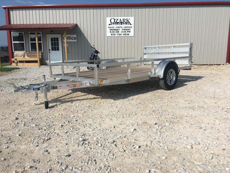 New H&H 76x12 Aluminum w/ BiFold Gate Utility Trailer