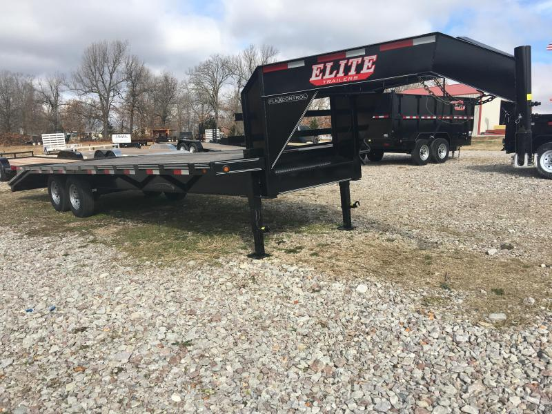 Elite 8 x 25 14K Deck Over Trailer w/ 2x Pop Ramps