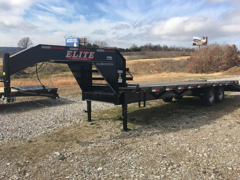 Elite 8 x 25 22K Deck Over Trailer w/ 5' Fold Ramps