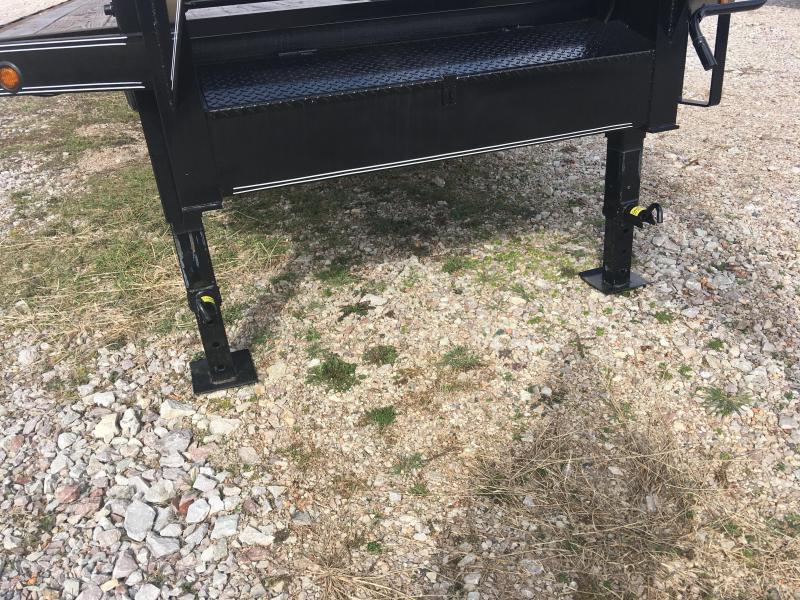 Elite 8 x 25 22K Deck Over Trailer w/ 5' Fold Ramps