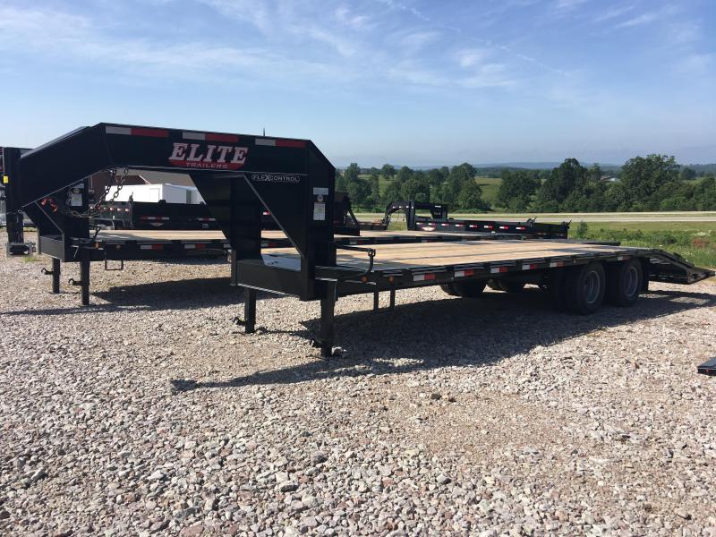 Elite 8 x 25 22K Deck Over Trailer w/ Mega Ramps
