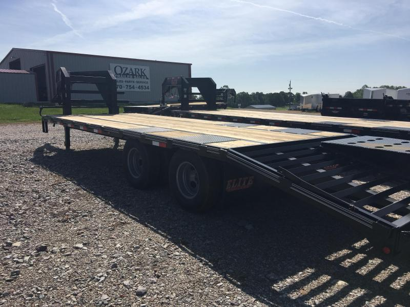 Elite Trailers 8.5x25 22.5K with Mammoth Ramps Deckover Trailer