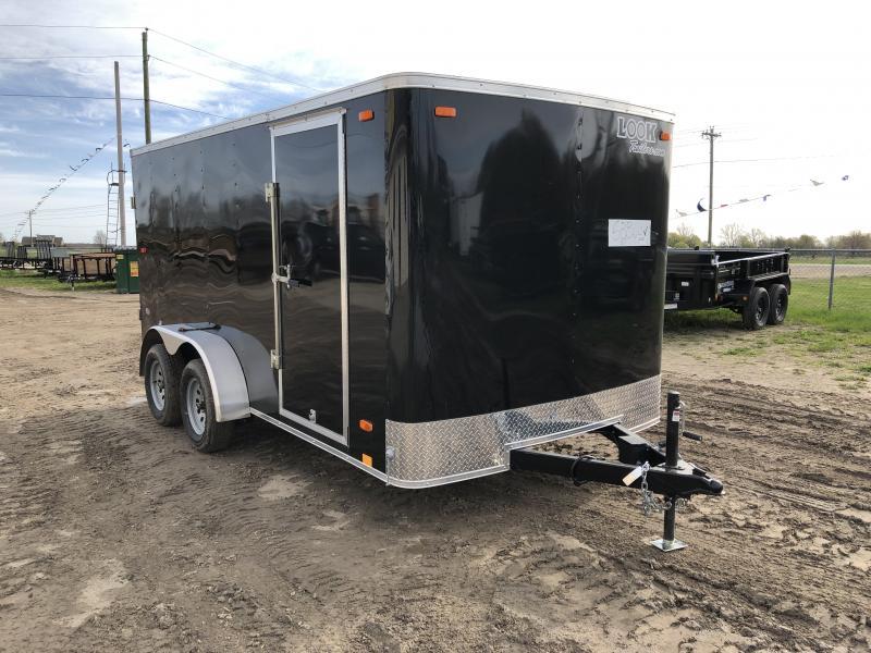 Look Trailers Black 7x14 Barn Door Enclosed Cargo Trailer