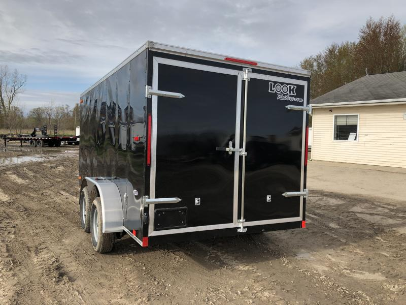 Look Trailers Black 7x14 Barn Door Enclosed Cargo Trailer