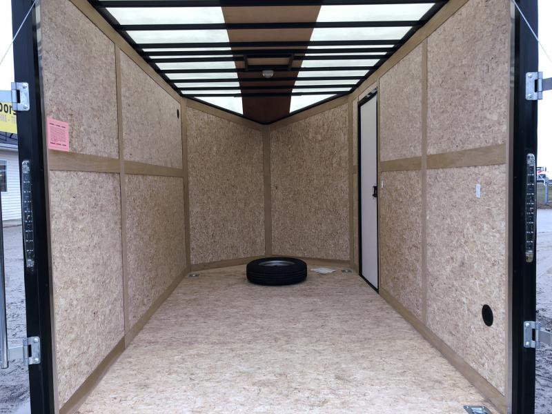 Stealth Trailers 7x12 V-Nose Ramp Door HD UTV+12 Pkg Enclosed Cargo Trailer