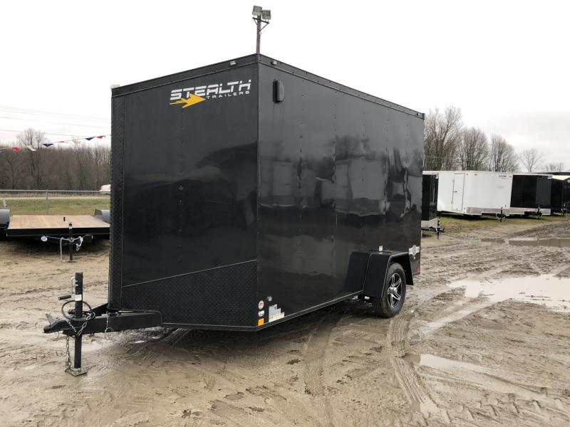 Stealth Trailers 7x12 V-Nose Ramp Door HD UTV+12 Pkg Enclosed Cargo Trailer