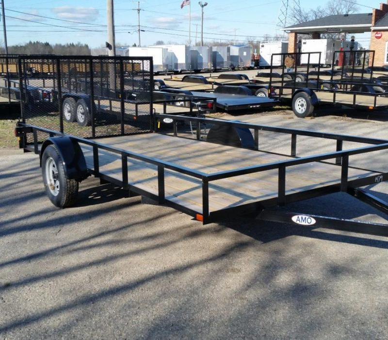 6.5 x 14 A.M.O. Low Side Landscape Trailer