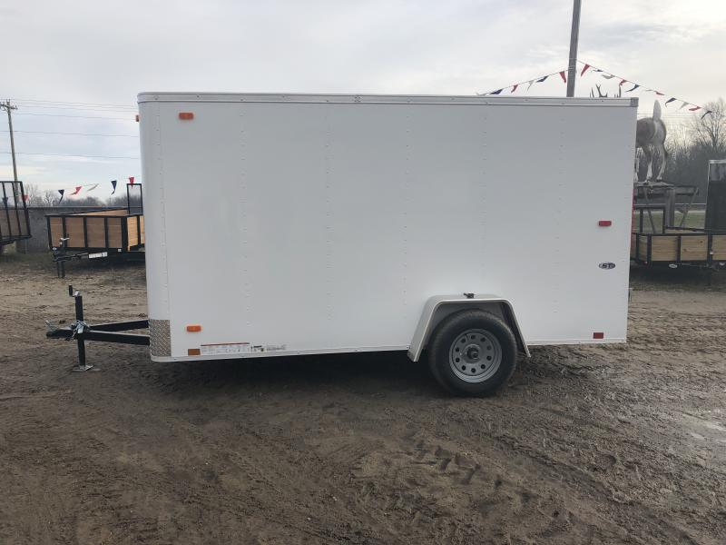 Look Trailers 6X12 Ramp Door Enclosed Cargo Trailer White
