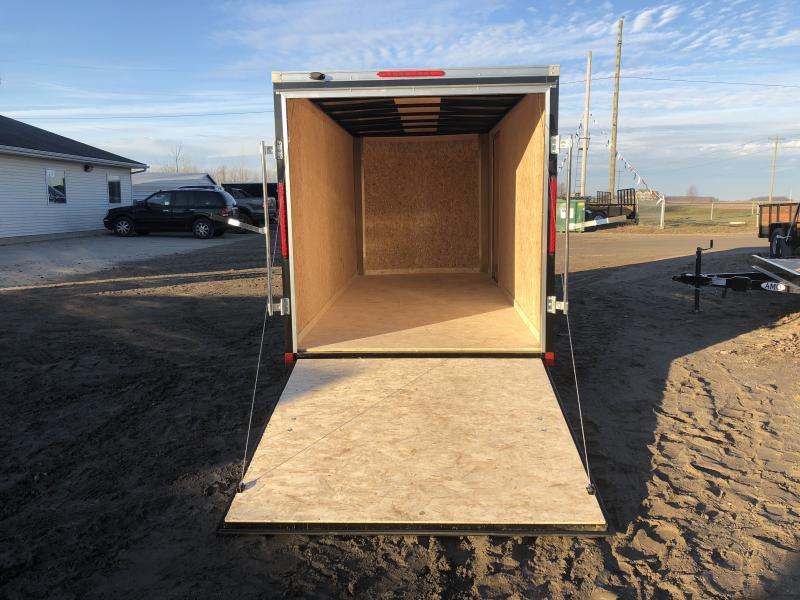 Look Trailers Black 6x14 Ramp Door Enclosed Cargo Trailer