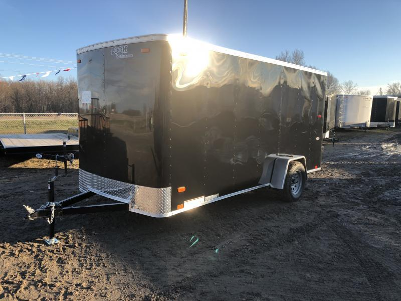 Look Trailers Black 6x14 Ramp Door Enclosed Cargo Trailer