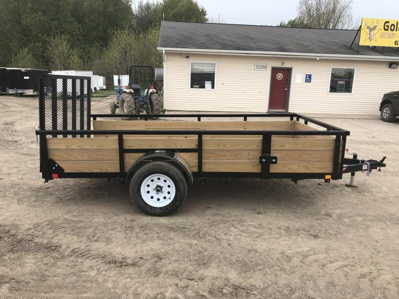 H and H 6x12 HD Woodsided Utility Trailer