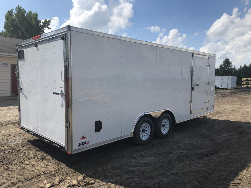 MTI 8.5X20 7K Enclosed Car Hauler White