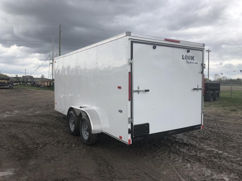 Look Trailers 7x16 Ramp Door Enclosed Cargo Trailer White