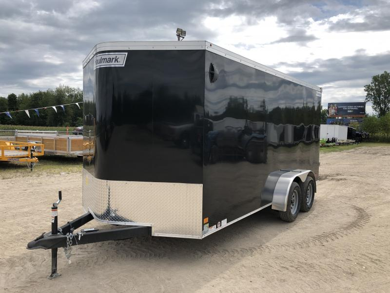 Haulmark Transport V-Nose Barn Door Enclosed Trailer Black 6ft 6in Interior