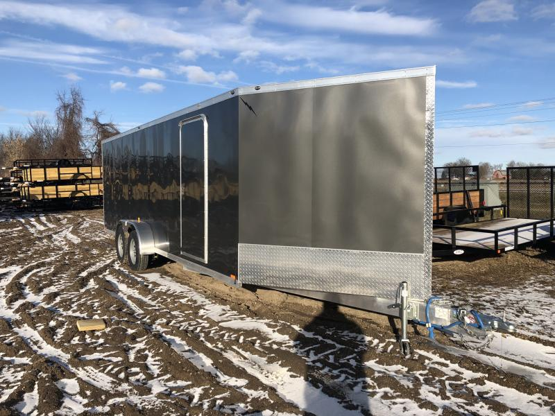 NEW 7X27 4 PLACE ENCLOSED SNOWMOBILE TRAILER