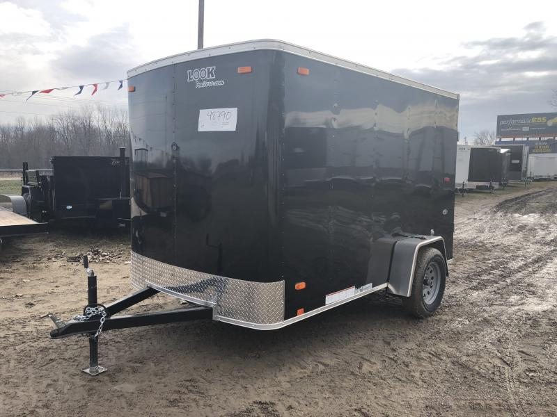 Look Trailers 6X10 Barn Door Enclosed Cargo Trailer