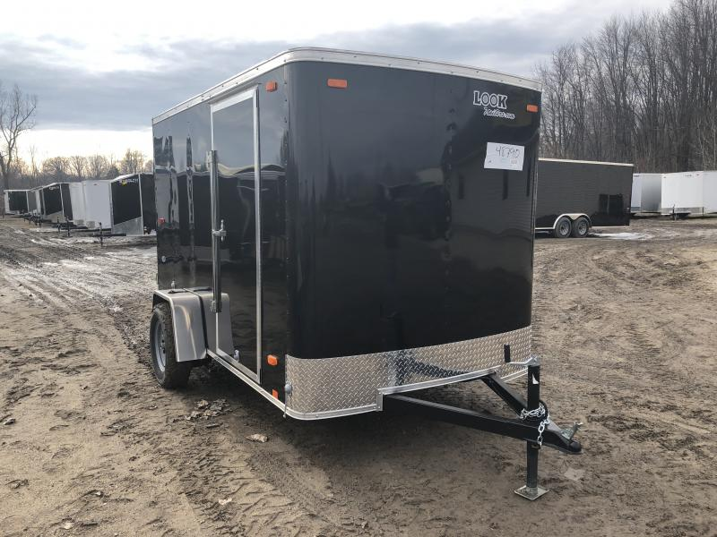 Look Trailers 6X10 Barn Door Enclosed Cargo Trailer