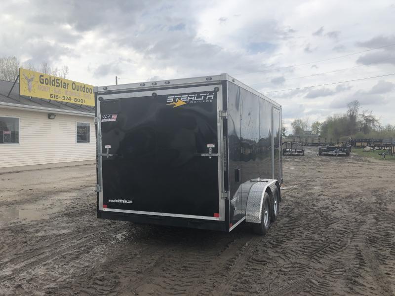 Stealth Trailers Titan 7X14 HD V-Nose Ramp Enclosed Cargo Trailer