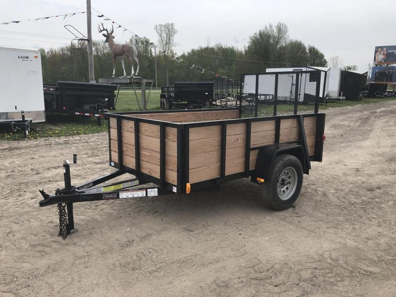 2019 Forest River Force 5x8 Deluxe Woodside Utility Trailer