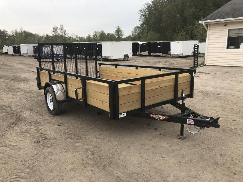 H and H 7x12 HD Woodsided Utility Trailer