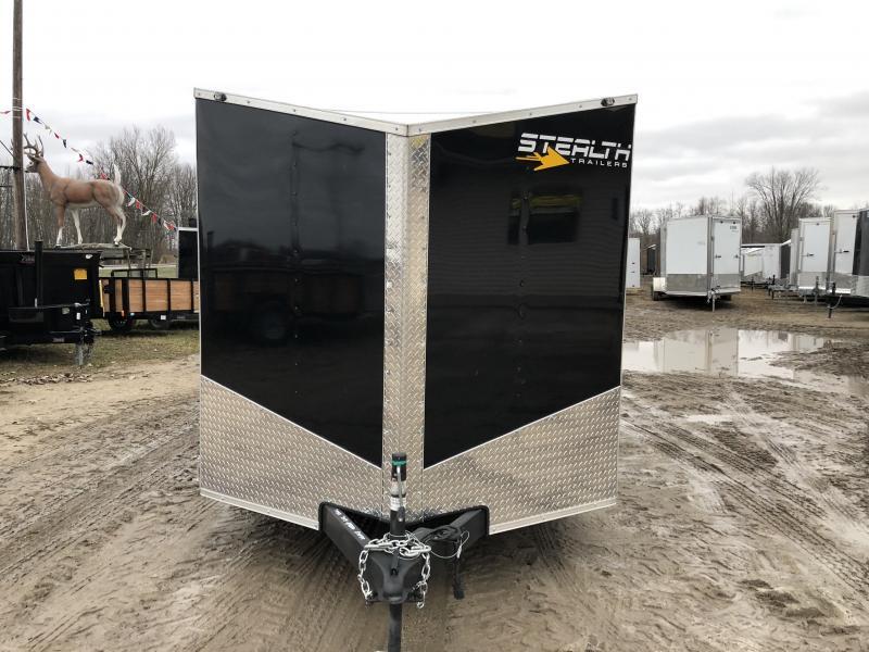 Stealth Trailers 7X14 V-Nose Ramp Door Enclosed Cargo Trailer