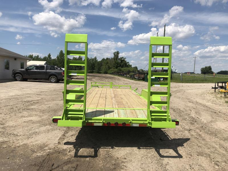 Load Trail 20ft 14K Equipment Trailer W/Rub Rail Saftey Green