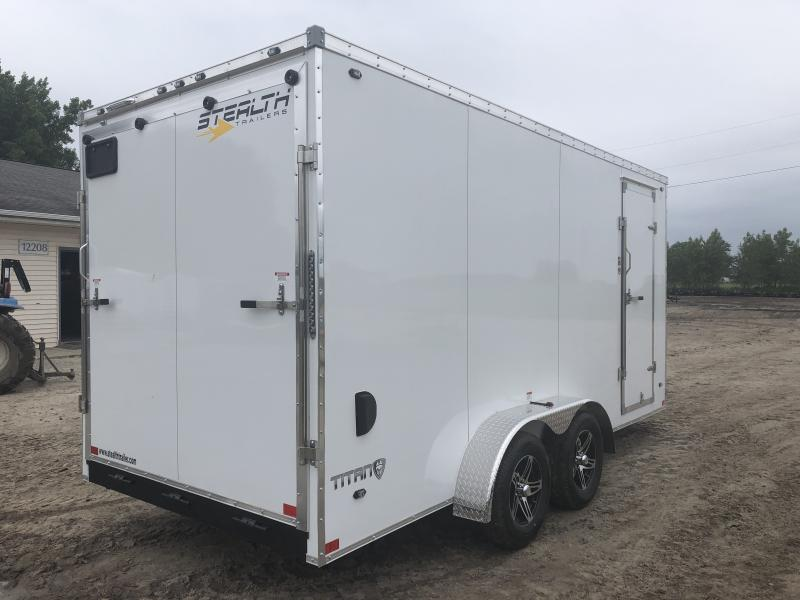 Stealth Trailers Titan White 7X16 +12