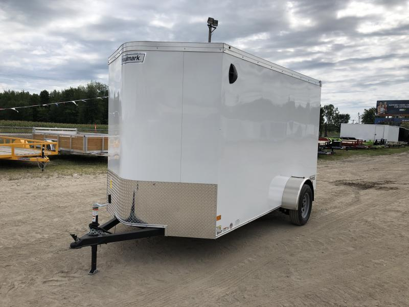 Haulmark Transport V- Nose Ramp Door Enclosed Trailer White 6ft 6in Interior