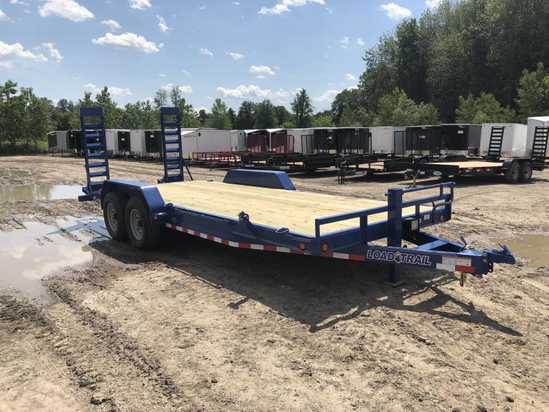 Load Trail 20ft 14K Equipment Trailer W/Rub Rail Blue