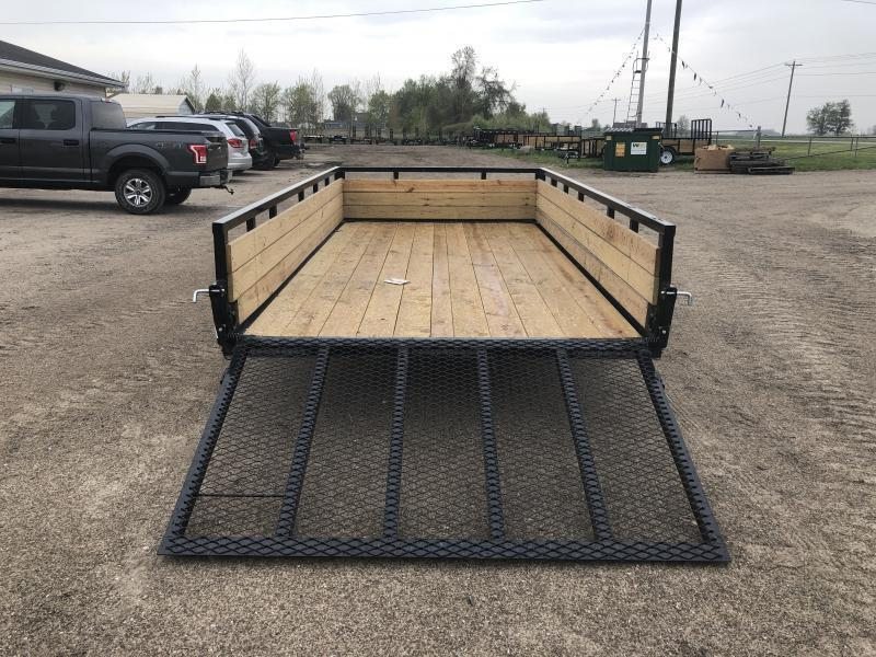 H and H 7x14 HD Woodsided Utility Trailer