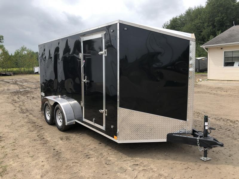 Stealth Trailers Mustang 7x14 V-Nose Ramp Door Enclosed Trailer Black